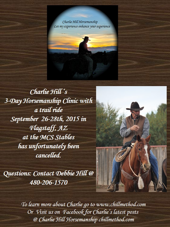 Charlie Hill 2015 Flagstaff clinic cancellation