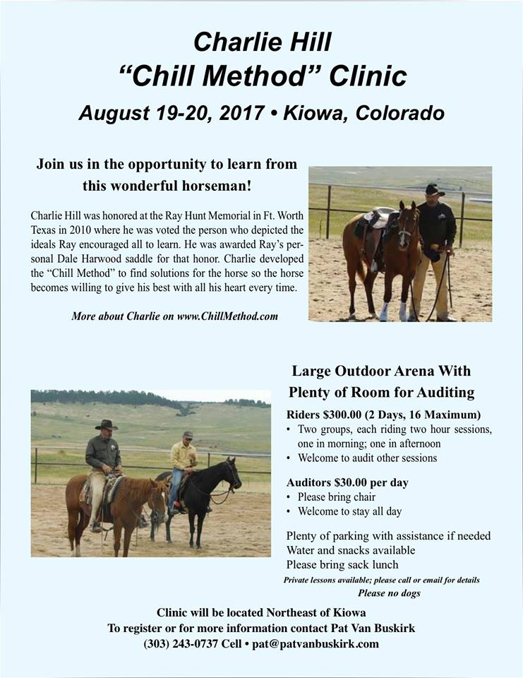 Charlie Hiil Clinic Kiowa CO August 2017