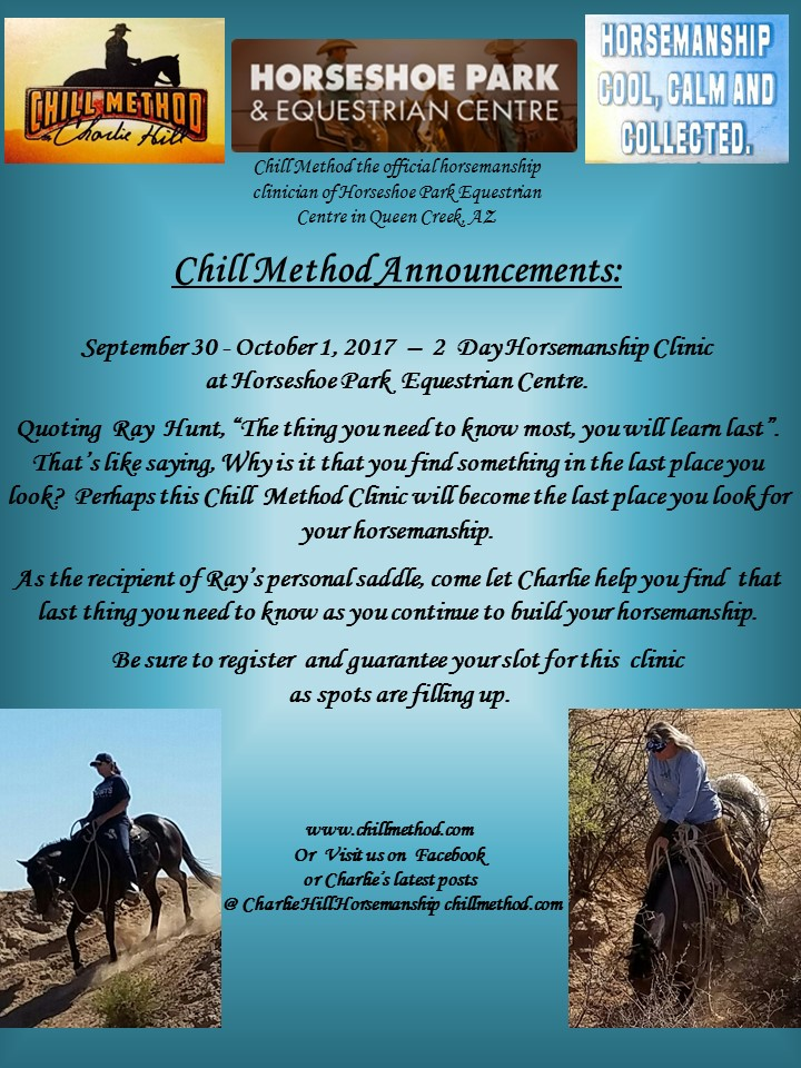 Chill Method Bridle and Bit Ad September 2017 Rev 0